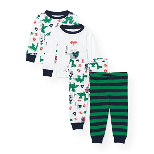 The Children's Place Baby 4-Piece Pajama Set, White 91673, 3-6MONTHS by The Children's Place