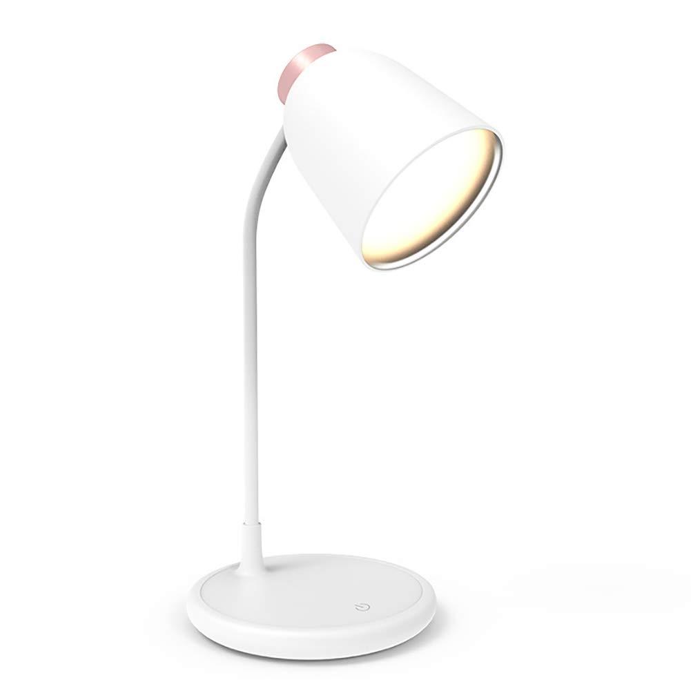 Lámparas de Escritorio Lámpara LED de Ojo de Silicona Tricolor Lectura Luz Táctil Carga USB Lectura Tricolor Trabajo de Aprendizaje Dormitorio Estudio Regalo,Rosa 2050d2