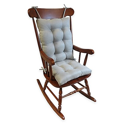Klear Vu Omega Extra-Large 2-Piece Rocking Chair Pad Set in Grey