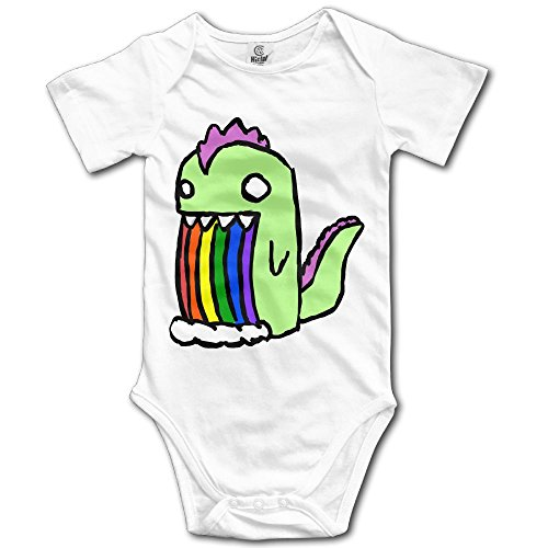 [Infant Baby Clothes Rainbow Dinosaur Short-Sleeveless Romper Creeper 12 Months] (Rainbow Fish Book Costume)