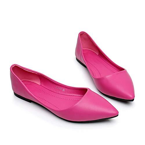 Caramelo Oficina Acentuados Poco la Trabajo de de de C Zapatos Color de Zapatos la Profundos Zapatos Comodidad Zapatos Manera Zapatos la FLYRCX Casual de Solos Manera Planos zxw4OfH
