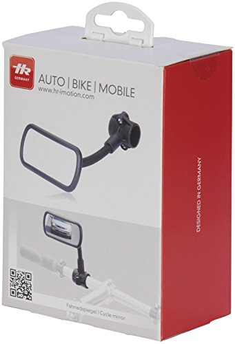 HR Imotion HR 10411101 Bicycle rear view Mirror 55 x 115 x 210 mm/2,2 x 4,6 x 8,1 inch - with adjustable gooseneck Made in Germany by HR Imotion (Image #5)