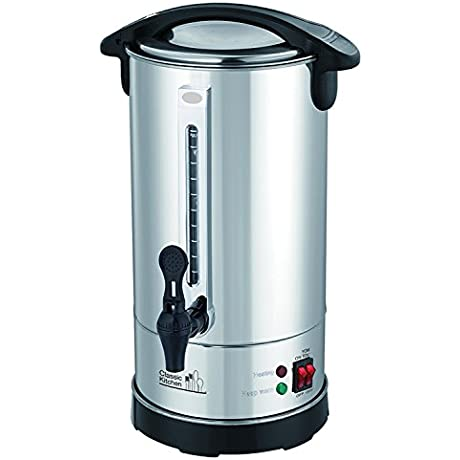 40 Cup Stainless Steel Double Wall Insulated Hot Water Urn Water Boiler With Holiday Yomtov Switch And Cover Child Lock