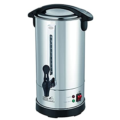 Image of Classic Kitchen CK840 Double Wall Insulated Hot Water Urn, 9.2 x 17 x 9.2 inches, Polished Stainless Steel