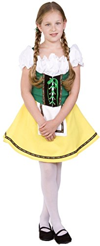 [RG Costumes Bavarian Girl Costume, Green/Yellow/White, Medium] (German Dress)