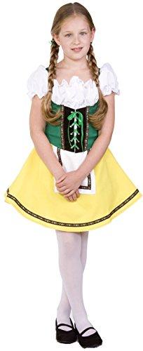 RG Costumes Bavarian Girl Costume, Green/Yellow/White, Medium (Beer Maid Costumes)