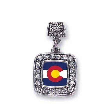 (Colorado Flag Charm for Pandora Bracelets, Chamilia, Troll, Biagi and other European Styles)