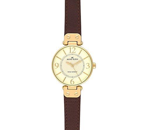 Anne klein modern leather strap watch brown giftsandwish for Anne klein leather strap