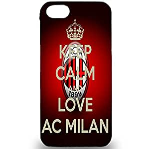Quotes Keep Calm And Love AC Milan 3D Associazione Calcio Milan Phone Case for Iphone 5/5s AC Milan Logo