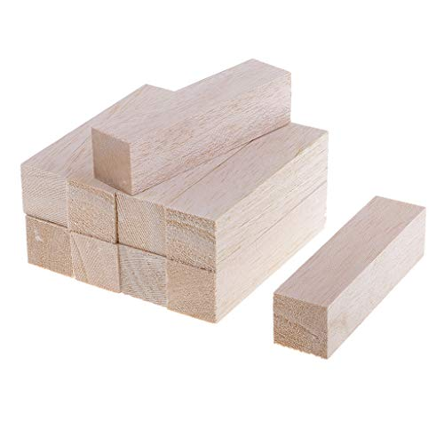 Balsa Block (Prettyia Pack 5/10 Balsa Wood Block (50mm 120mm) Long Wood Sticks 30x30mm Thick Balsa Wood Rods for Model Making, Architect, Arts, Crafts DIY Woodworking - 10pcs 120mm)