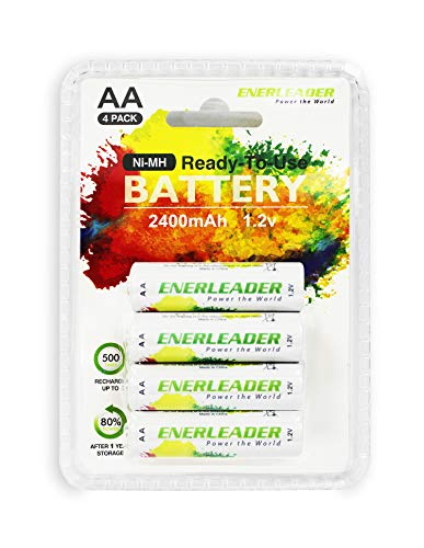 ed Ni-MH 2400mAh AA Rechargeable Batteries 4 Pack ()