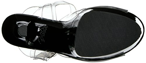 Femmes Pleaser Aspirent-608 Sandale Ouverte Transparent (clr / Blk)
