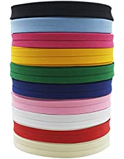 Polyester/Cotton 12mm T/C Bias Tape Bias Binding Fold Ribbon Solid Color for DIY Garment Sewing and Trimming
