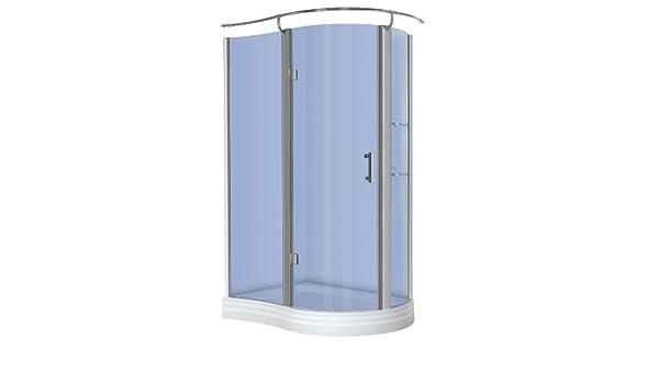 Redondo-mampara de ducha con platillos de 120 x 90 x 215: Amazon.es: Bricolaje y herramientas