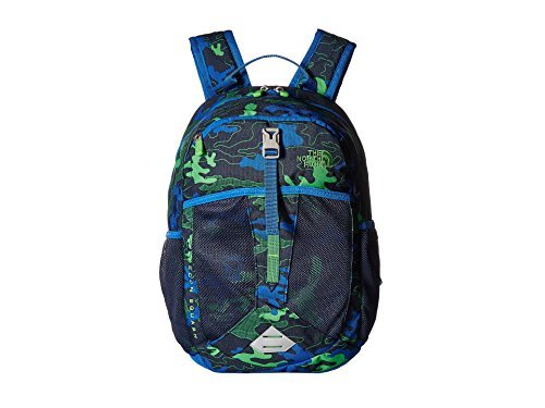 The North Face Recon Squash Big Kid Cosmic Blue Griddy Woodland Camo Print/Turkish Sea Backpack Bags [並行輸入品] B07CQMF6QF