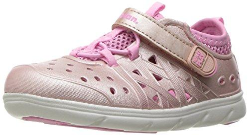 Stride Rite Made 2 Play Phibian Sneaker Sandal Water Shoe , Rose Gold, 5 M US Toddler