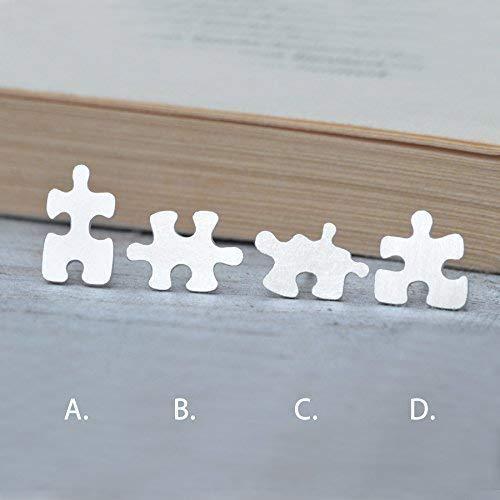 Jigsaw Earrings Minimalist Studs Minimal Earrings Puzzle Jewelry Jigsaw Puzzle Earrings,Copper Studs Earrings,Puzzle Piece Earrings