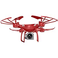 Wifi FPV Quadcopter, COOL99 Wide Angle Lens HD Camera Quadcopter RC Drone WiFi FPV Live Helicopter Hover (A, Red)