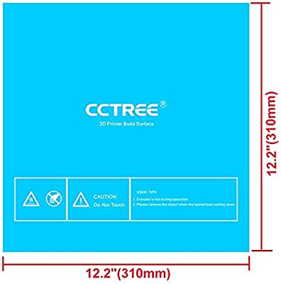 Superficie de impresión CCTREEE para impresoras 3D, con adhesivo ...