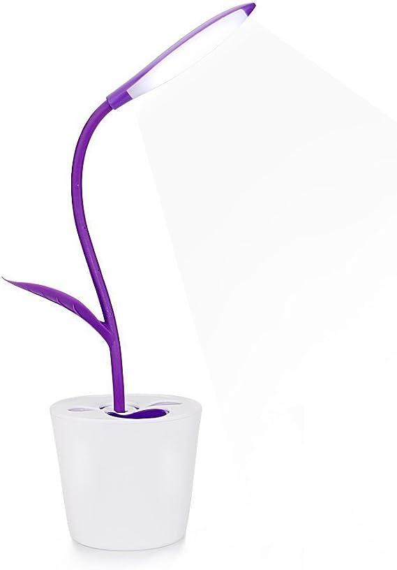 LED Lámpara de escritorio regulable 360 ° Flower Planta – 3 ...