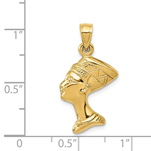 ICE CARATS 14kt Yellow Gold 3 D Nefertiti Pendant Charm Necklace Travel Transportation Fine Jewelry Ideal Gifts For Women Gift Set From Heart by ICE CARATS (Image #5)
