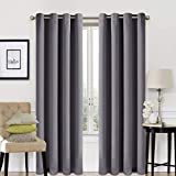 EASELAND 99% Blackout Curtains 2 Panels Set Room Darkening Drapes Thermal Insulated Solid Grommets Window Treatment Pair for Bedroom, Nursery, Living Room,W52xL84 inch,Dark Grey