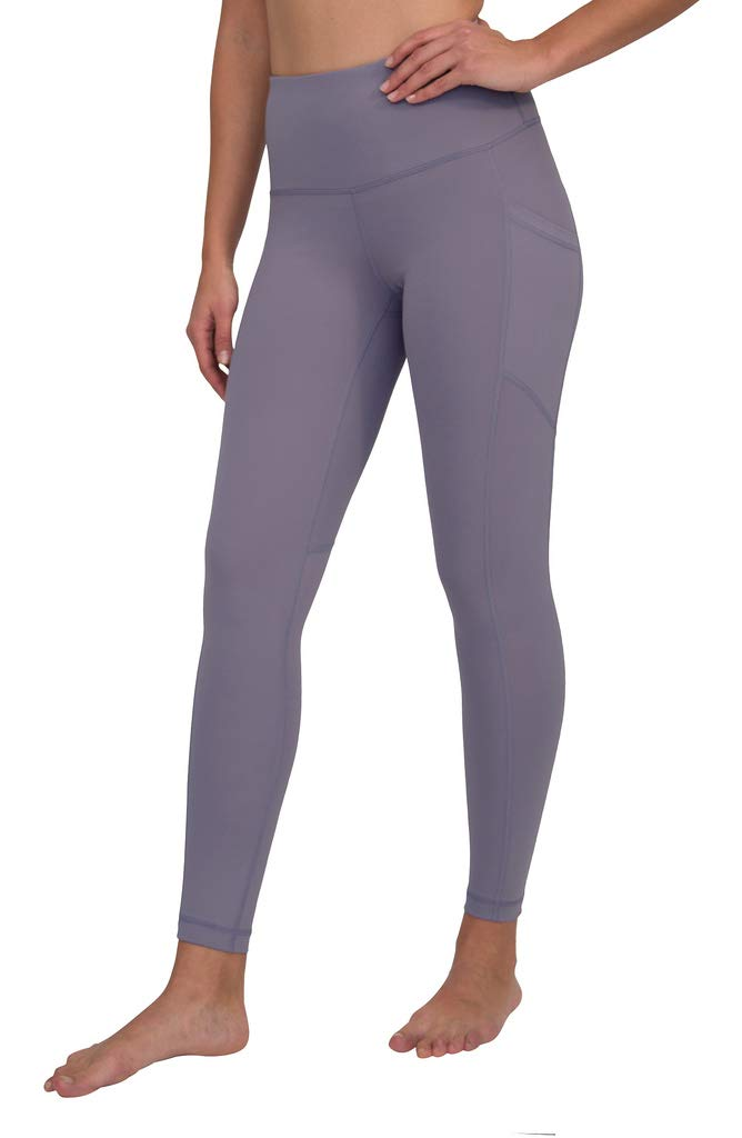 90 Degree By Reflex Women's Power Flex Yoga Pants - Frosted Grape - XL by 90 Degree By Reflex