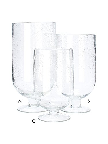 Amazon 14 Clear Glass Large Seed Glass Footed 1 Pc Hurricane