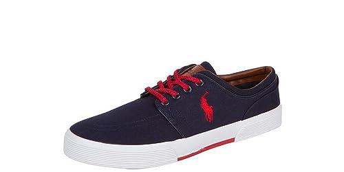 Polo Ralph Lauren Faxon Low NP Azul Marino Rojo Zapatos de Moda Hombre de 12 D \ Reino Unido: tamaño 11d: Amazon.es: Zapatos y complementos
