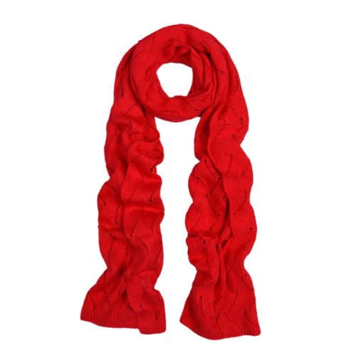 Premium Winter Flame Knit Scarf, Red