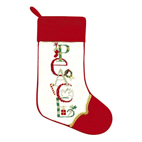 Christmas Words Needlepoint Stockings