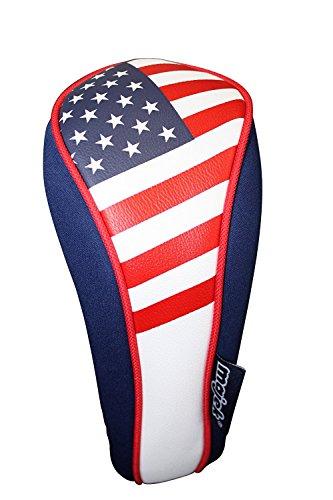 Majek USA Patriot Golf Hybrid Head Cover 3 U.S.A Neoprene Style Patriotic Headcover