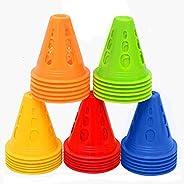 HUICHAI3 Inch Training Cones for Kid Adult Mini Sports Training Cones Plastic Windproof Roadblock Traffic Road