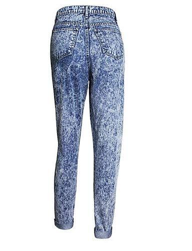 Salir Rayas Mujeres Alta Cintura a Las Blue de Vaqueros Pantalones YFLTZ x8F7RR