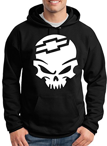 Chevy Bow Tie Skull Hoodie (xl)
