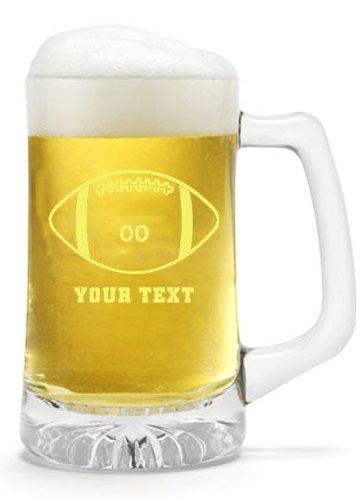 Engraved 25 Oz Sports Mug (Personalized Football 25oz Sports Beer Mug)
