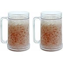 Double Wall Gel Frosty Freezer Mugs 16oz, Set of Two, Clear