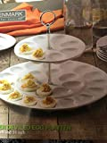 TWO TIER DEVILED EGG PLATTER - 81/4 INCH AND 14 INCH - DENMARK