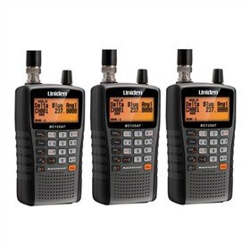 Uniden Bearcat BC125AT 500 Alpha Tagged Channel Bearcat Handheld Scanner (3-Pack)