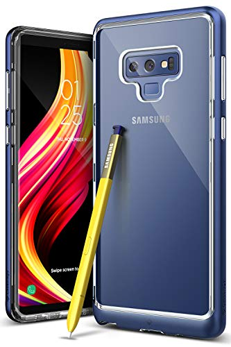 Caseology for Note 9 case [Skyfall Series] - Clear Slim Fit Corner Cushion Enhanced Drop Protection Trasparent Design Case for Galaxy Note 9 - Ocean (Series Clear Corner)