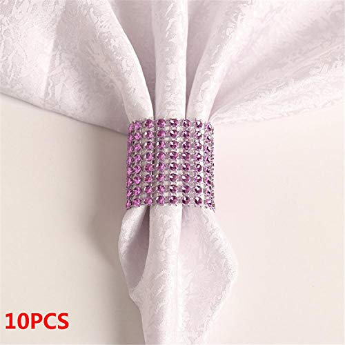 Miao Express 10PCS Wedding Table Decorations Nickel or Rose Gold Plated Napkin Rings,19
