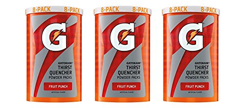 Gatorade Thirst Quencher Powder Packs - Fruit Punch - 1.23 Ounces (Pack of 24)