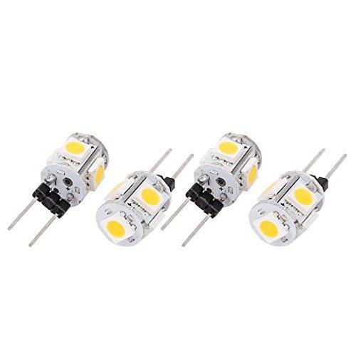250-600LM ahorro de energía G4 5050 SMD 5 LED bombilla de luz blanca cálida de 4 PC - - Amazon.com
