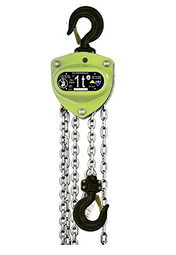 All Material Handling MA010-10-08U Manual Chain Hoist 1.0 Ton 10 Lift 08 Drop