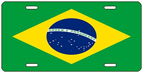 (Rogue River Tactical Brazil Flag License Plate Novelty Auto Car Tag Vanity Gift Brazilian)