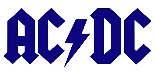 ANGDEST ACDC Rock Band Logo Symbol Icon (NAVY BLUE) (set of 2) Premium Waterproof Vinyl Decal Stickers for Laptop Phone Accessory Helmet Car Window Bumper Mug Tuber Cup Door Wall Decoration (Logo Dc Guitar)