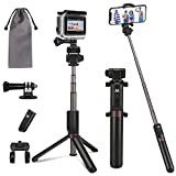 Bluetooth Selfie Stick, PEYOU Extendable Selfie Stick with Tripod Stand and Wireless Remote Compatible for iPhone Xs Max XR X 8 7 6 6S Plus,for Galaxy Note 9 8 S10 S9 S8 Plus,for Gopro Action Camera