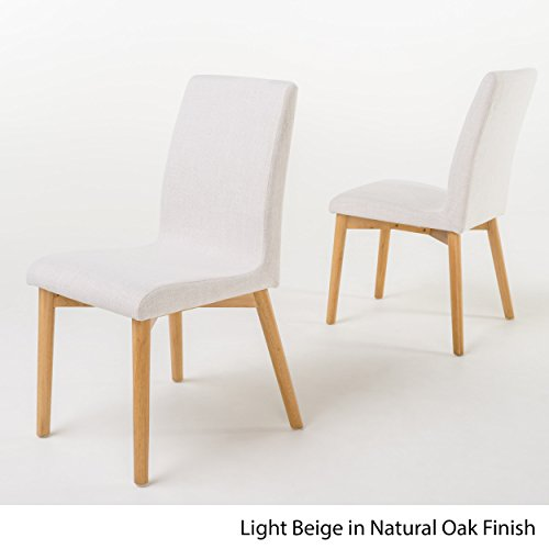 Christopher Knight Home 298941 Helen Mid Century Modern Dining Chair (Set of 2), Light Beige