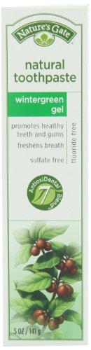 Porte Dentifrice naturel de la nature sans fluorure, Wintergreen Gel, 5 oz (141 g) (pack de 4)