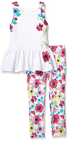 Juicy Couture Girls' Little 2 Pieces Legging Set, Vanilla/Print ()